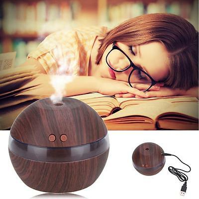 Air Aroma Essential Oil Diffuser LED Ultrasonic Aromatherapy Humidifier Black SP