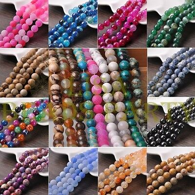 Bulk Wholesale Natural Gemstone Stone Round Loose Spacer Beads 4mm 6mm 8mm 10mm