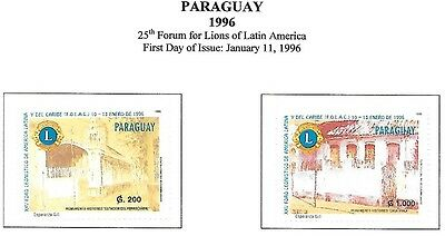 PARAGUAY Sc 2529-30 NH ISSUE OF 1996 - Lions International