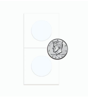 (25) BCW Half Dollar Size Paper Flips 2x2 Coin Holders 30.6mm Archival Safe