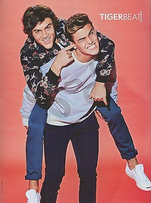 """ETHAN & GRAYSON DOLAN - finger in ear - 11"""" x 8"""" MAGAZINE PINUP - POSTER"""