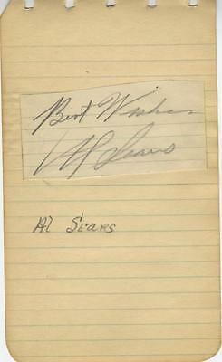 """big"" Al Sears-Original Autographed Album Page-Alan Freed Saxophone Player"