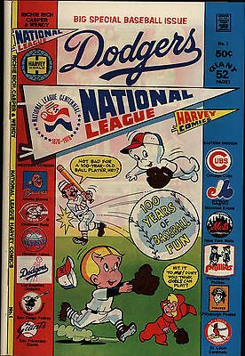 National League Los Angeles Dodgers #1 Very Good + Harvey Comics 1976 CBX31