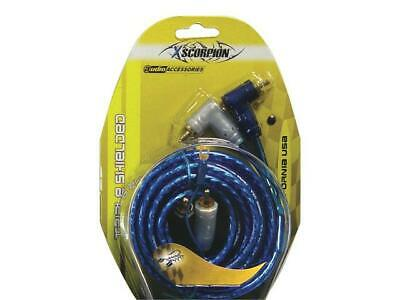 Rca Cable 15' Xscorpion Blue Triple Shielded W/Remote Wire
