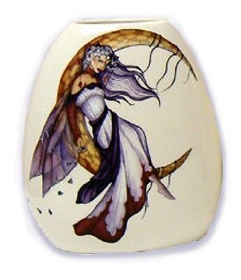Moon Dreaming  Fairy Small Vase - Jessica Galbreth Fairysite