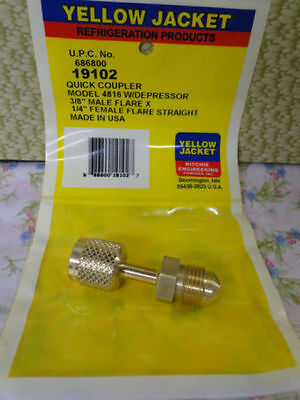 YELLOW JACKET RITCHIE Quick Coupler 3/8 x 1/4  #19102 Refrigeration