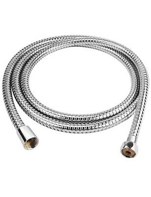1.5m Flexible Stainless Steel Chrome Standard Shower Head Bathroom Hose Pipe UK