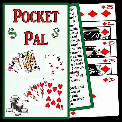 POKER STRATEGY pocket card - WIN MORE at VIDEO POKER - handy card fits in wallet