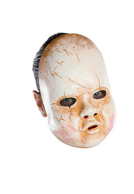 Scary Baby Doll Adult Vinyl Halloween Costume Accessory Mask