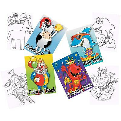 Kids Party Supplies Favours Prizes Pack Of 12 Mini Colouring Books Colour Pads