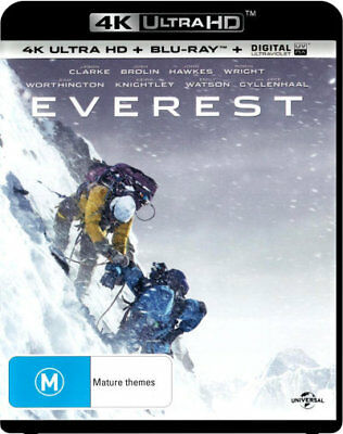 Everest - Josh Brolin, Jason Clarke UHD 4K Blu-ray Region B New!