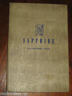 RARE orig Armstrong Siddeley SAPPHIRE Synchromesh Model BOOK+charts, FREE POST!