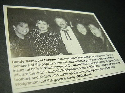 MOE BANDY hangs with the JETS in DC original vintage music biz promo image/text