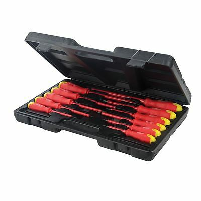 11pc Fully Insulated Electricians Screwdriver Set Tool Electrical with Kit Case