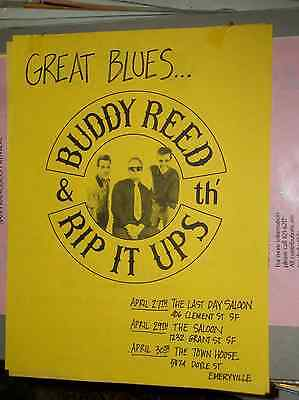 Buddy Reed & The Rip It Ups 1980s Show Promo Flyer San Francisco Emeryville