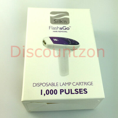 1000 pulses Lamp Cartridge for Silk'n Flash&go Laser IPL Permanent Hair Removal