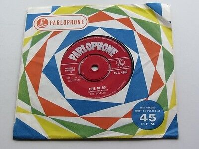 The Beatles  Original  1962 Red Parlophone 45 Love Me Do 1 G  Stampers