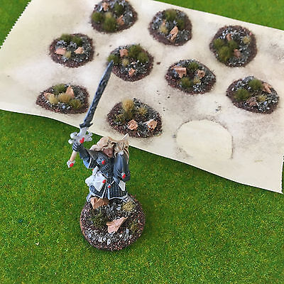 Serious-Play Scenic Base Toppers - Scenery Model Warhammer Gamers Grass Tufts