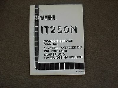 Yamaha IT250N Motor Cycle Service Manual , mid 1980's