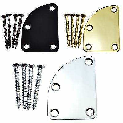 Neck Plate with Curved Top for 5 String Fender Bass