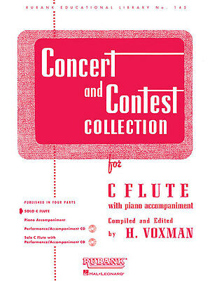 Concert & Contest Collection C Flute Solo Part Sheet Music Rubank Book NEW