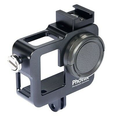 Phottix Cage for Go-Pro Hero 3 3+ and 4, Black Anodized Aluminium w. C