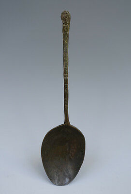 Antique Very rare and early Dutch/English Bronze Spoon Marked Circa 1500