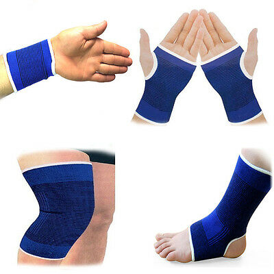 2Pcs Elastic Bandage Therapy Sports Brace Wrap Knee Wrist Ankle Palm Pain Relief