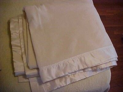Vintage  MERINO WOOL BLANKET,  CREAM COLOR, NEIMAN MARCUS LABEL