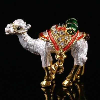 Animal Camel Metal Crystal Trinket Box Jewelry Ring Holder Wedding Decor Gifts