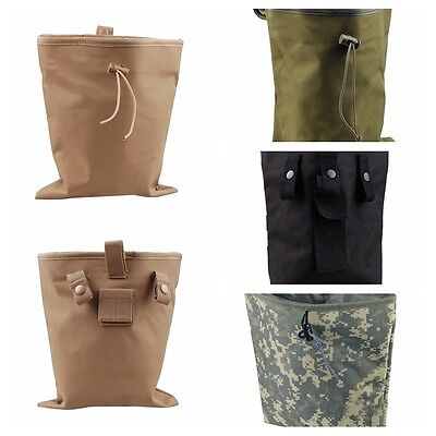 Tactical Magazine Utility Drop Dump Pouch Molle Military Gun Ammo Bag BKB