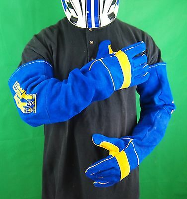 EXTRA LONG KEVLAR BLUE Gloves Welding Gloves Denim lined Kevlar gloves
