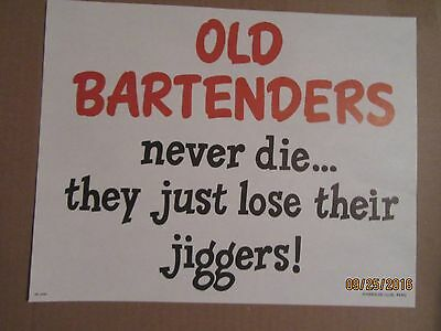 "Harolds Club Casino Reno ""old Bartenders Never Die..."" Sign"