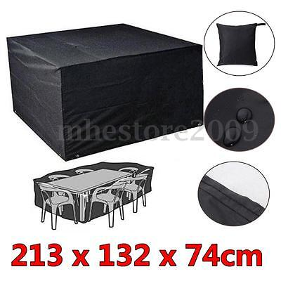Waterproof Garden Furniture Rain Cover Shelter Rattan Cube Set Table Chair Snow