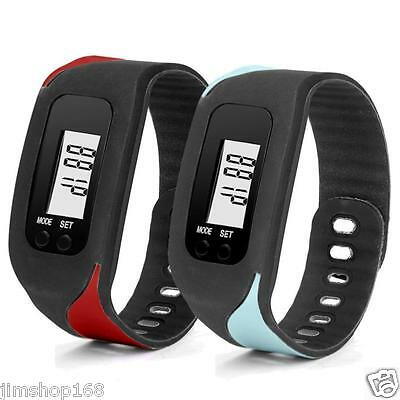 Digital LCD Pedometer Run Step Walking Distance Calorie Counter Watches Bracelet