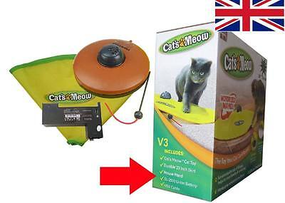 V3 Cat's Meow Undercover Yellow Skirt Motorised Moving Wand Mouse Toy / Boxed