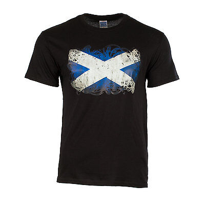 Heritage of Scotland Men's Abstract Saltire T-Shirt