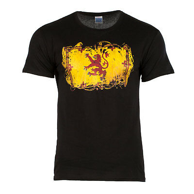 Heritage of Scotland Men's Yellow Flag Abstract T-Shirt