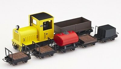 Minitrains 5095 - Diesel Locomotive & 6 Wagons - New (009/HOe Narrow Gauge)
