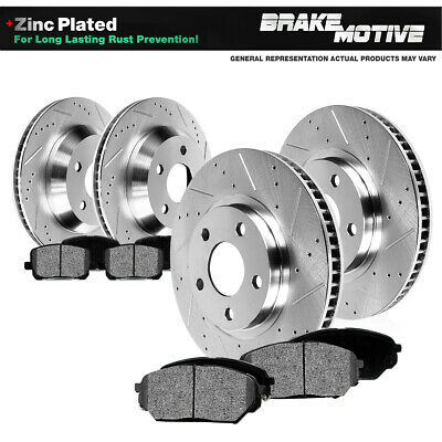 Front & Rear DRILLED SLOTTED BRAKE ROTORS AND METALLIC PADS 63 - 82 Vette C2 C3