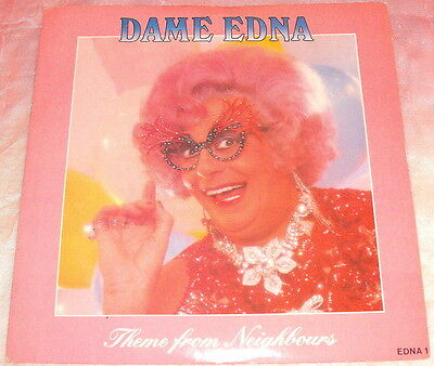 """Dame Edna Everage..neighbours / Spooky Christmas..7"""" Vinyl 1988 Barry Humphries"""