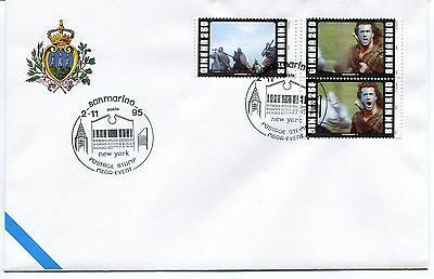 1995-11-02 San Marino New York postage stamp mega-event ANNULLO SPECIALE Cover