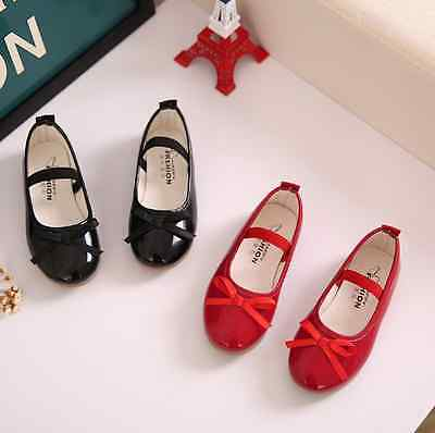 2016 Girls Bow Princess Shoes Party Dress Kid Flat Heels Shoes New Fashion