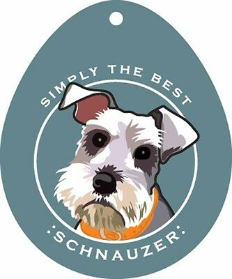 Schnauzer Sticker 4×4″ Uncropped