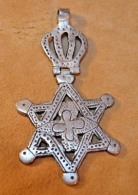 Huge Hinged Metal Ethiopian Handmade Star Of David Pendant Ethiopia, Africa