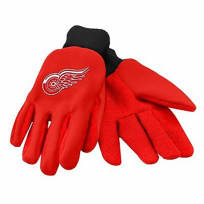 Detroit Red Wings Gloves Sports Logo Utility Work Garden NEW Colored Palm
