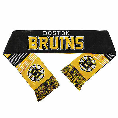 Boston Bruins Reversible Scarf Knit Winter Neck NEW NHL - Split Logo