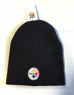 Pittsburgh Steelers Knit Beanie Winter Hat Toque Skull Cap NEW Black