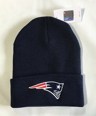 NEW England Patriots Knit Beanie Winter Hat Toque Skull Cap NEW Blue Cuffed