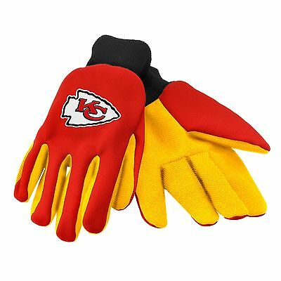 Kansas City Chiefs Gloves Sports Logo Utility Work Garden NEW Colored Palm